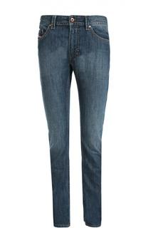 Зауженные джинсы с контрастной отстрочкой Diesel