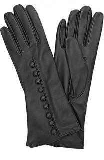 Кожаные перчатки с декоративными пуговицами Sermoneta Gloves
