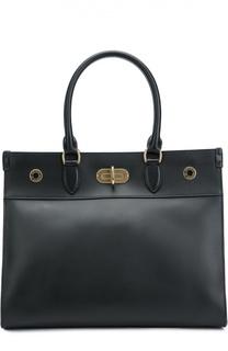 Кожаная сумка-тоут с замком Tiffin Ralph Lauren