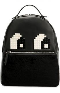 Кожаный рюкзак Mick Eyes с отделкой из меха Les petits joueurs