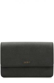 Сумка с клапаном из сафьяновой кожи DKNY