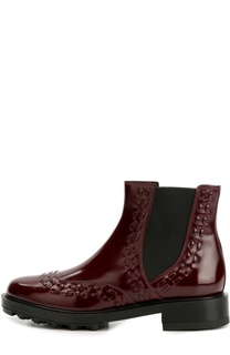 Лаковые ботинки с декором Tod's
