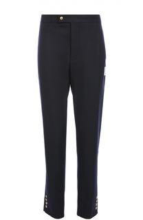 Шерстяные брюки с заниженной линией шага Moncler