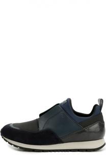 Комбинированные кроссовки с эластичной вставкой Tod's