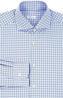 Хлопковая рубашка в клетку Kiton