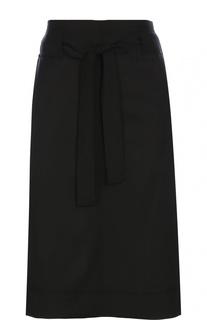 Шерстяная юбка прямого кроя с поясом Isabel Marant Etoile