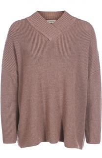 Пуловер свободного кроя с V-образным вырезом и спущенным рукавом Lanvin