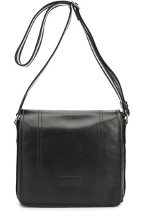 Кожаная сумка-планшет с логотипом бренда Bally