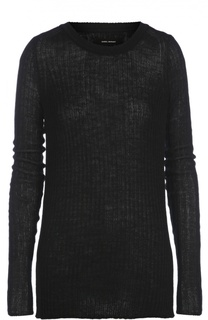 Удлиненный пуловер фактурной вязки с круглым вырезом Isabel Marant