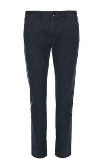Зауженные брюки из эластичного хлопка с узором Armani Collezioni