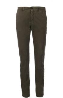 Зауженные брюки из эластичного хлопка Moncler