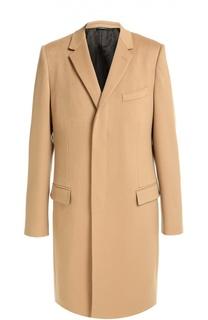 Пальто из смеси шерсти и кашемира с потайными пуговицами Dolce & Gabbana