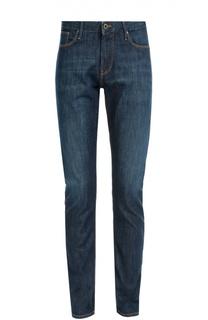 Зауженные джинсы с контрастной отстрочкой Armani Jeans