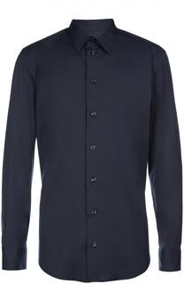 Рубашка из эластичного хлопка с воротником кент Armani Collezioni