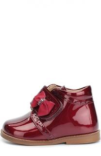 Лаковые ботинки с бантом Clarys