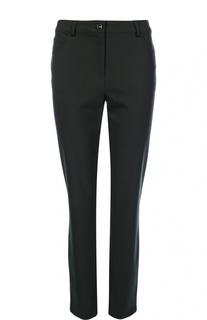 Укороченные джинсы-скинни с контрастной пуговицей Escada