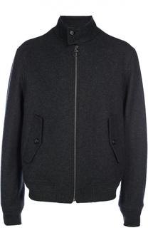 Шерстяная куртка-бомбер на молнии Z Zegna