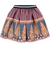 Хлопковая юбка с принтом Stella Jean