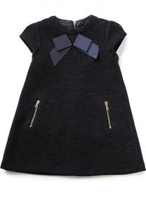 Платье из шерсти с бантом Tartine Et Chocolat
