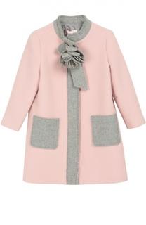 Шерстяное пальто с декором Lanvin