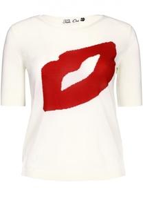 Приталенная футболка с удлиненным рукавом и принтом Tak.Ori