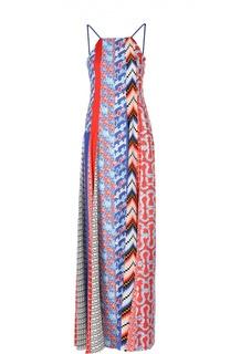 Платье-макси с открытой спиной и ярким принтом Kenzo