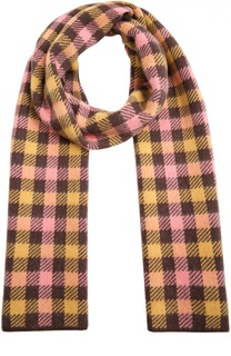 Кашемировый шарф в разноцветную клетку Marc Jacobs