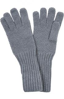 Кашемировые перчатки с кнопками на манжетах Loro Piana