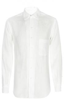 Льняная рубашка с воротником кент Loro Piana