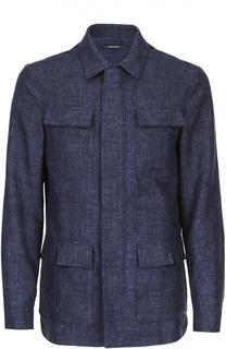 Льняная куртка-сафари с потайной застежкой Loro Piana
