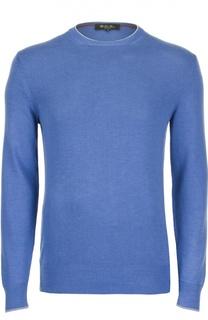 Шелковый пуловер с круглым вырезом Loro Piana