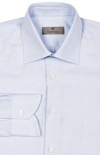 Классическая рубашка из фактурного хлопка Canali