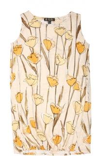 Льняное платье с цветочным принтом Loro Piana