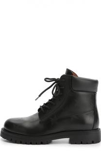 Кожаные ботинки Hologram Stars с принтом Valentino