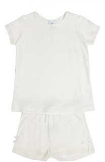 Пижама с кружевной отделкой и бантом Sanetta