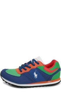 Замшевые кроссовки с текстильной вставкой Polo Ralph Lauren