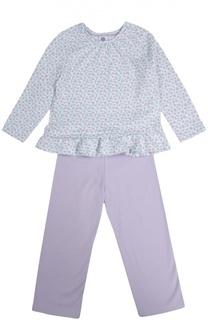 Хлопковая пижама с цветочным принтом Sanetta