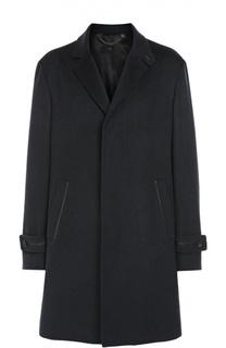Кашемировое пальто в клетку с потайными пуговицами Brioni