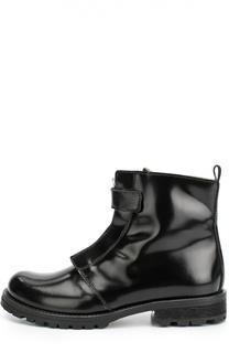 Лаковые ботинки с декорированной молнией Gallucci