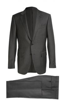 Приталенный шерстяной костюм Ermenegildo Zegna