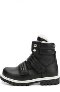 Кожаные ботинки с застежкой велькро Dsquared2