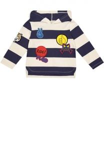Хлопковая толстовка с капюшоном и нашивками Stella McCartney