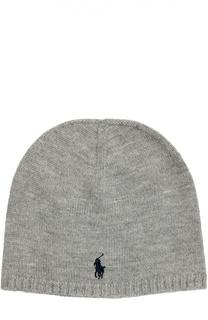 Вязаная шапка с нашивкой Polo Ralph Lauren