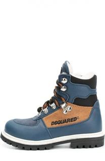 Кожаные ботинки на шнуровке Dsquared2