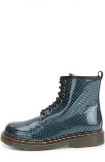 Лаковые ботинки с принтом Gallucci