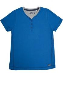 Хлопковая футболка хенли Sanetta