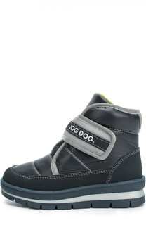 Текстильные ботинки с застежкой велькро Jog Dog