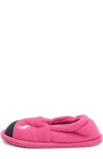 Текстильные тапочки с нашивкой Polo Ralph Lauren