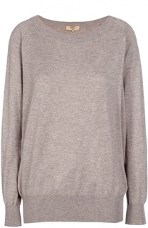 Пуловер свободного кроя с круглым вырезом Back Label