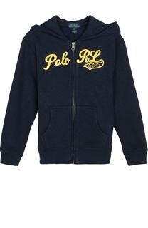 Хлопковая толстовка на молнии с капюшоном Polo Ralph Lauren